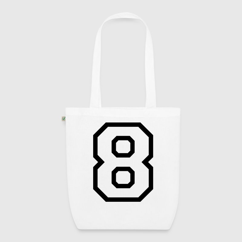 THE NUMBER EIGHT-8 Bags & Backpacks - EarthPositive Tote Bag