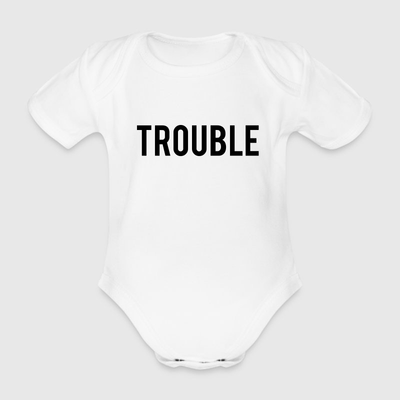 Double Trouble Shirts - Organic Short-sleeved Baby Bodysuit