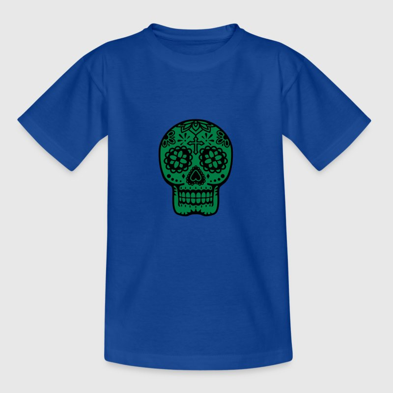 Schedel mexicaanse Shirts - Teenager T-shirt