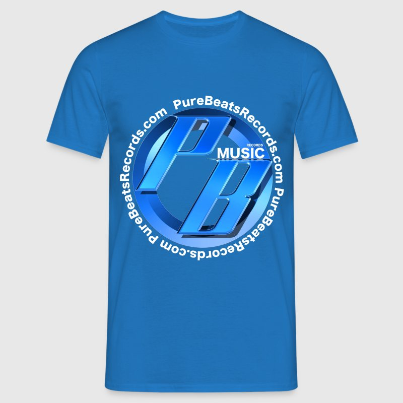 T-shirt Blue Pure Beats Records T-Shirts - Men's T-Shirt