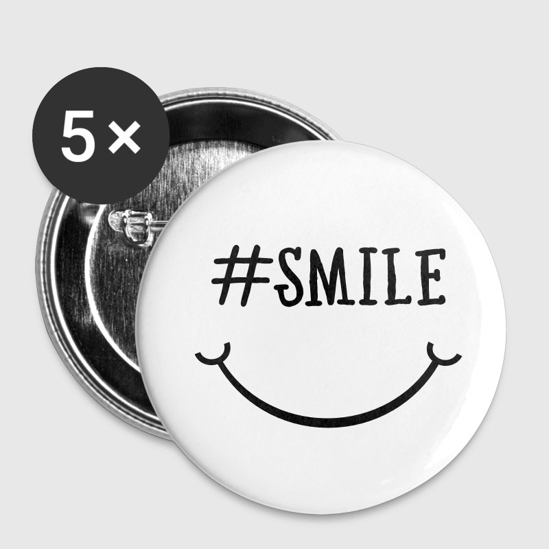 Smile Hashtag Buttons - Buttons small 25 mm