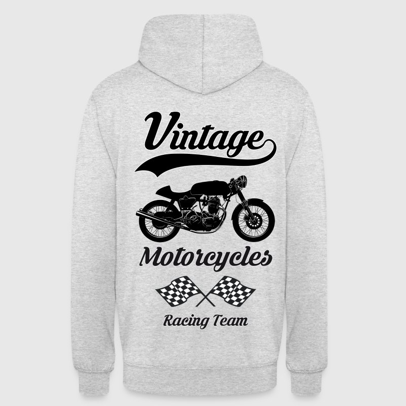 vintage motorcycles team 08 Sweat-shirts - Sweat-shirt à capuche unisexe