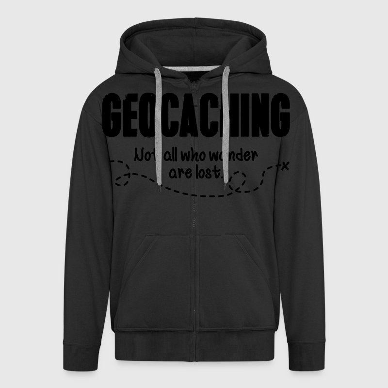 Geocaching - not all who wander are lost Tröjor - Premium-Luvjacka herr