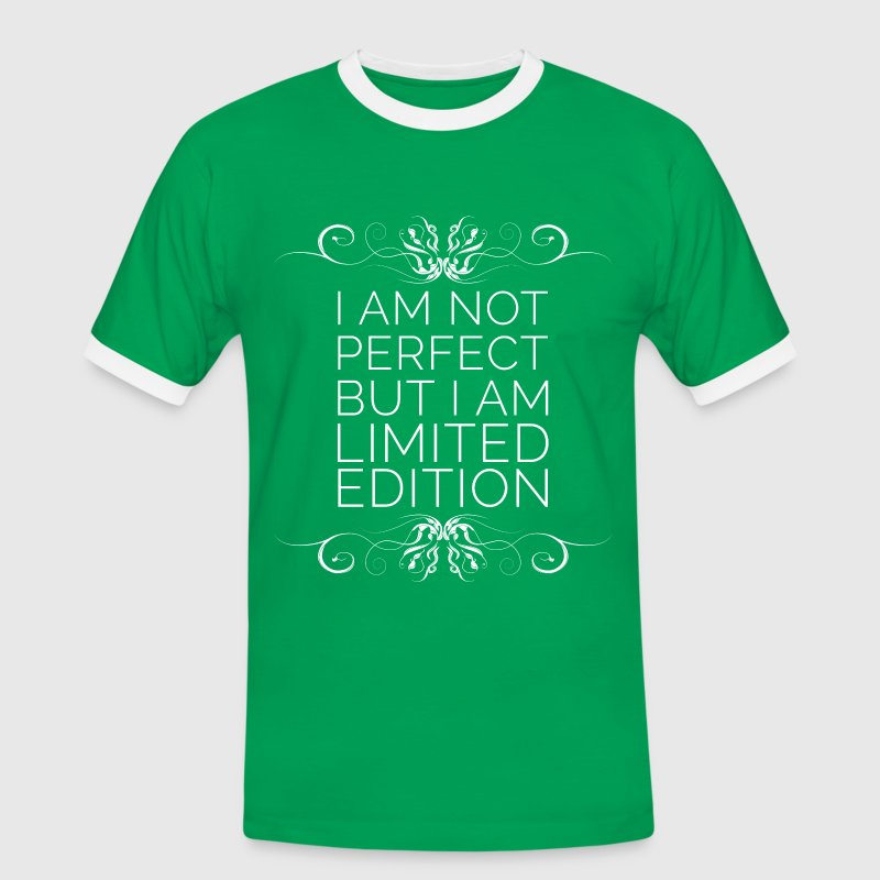 I Am Not Perfect But I'm Limited Edition (blanc) Tee shirts - T-shirt contrasté Homme