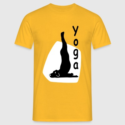 Yoga Dog Looking   - Männer T-Shirt