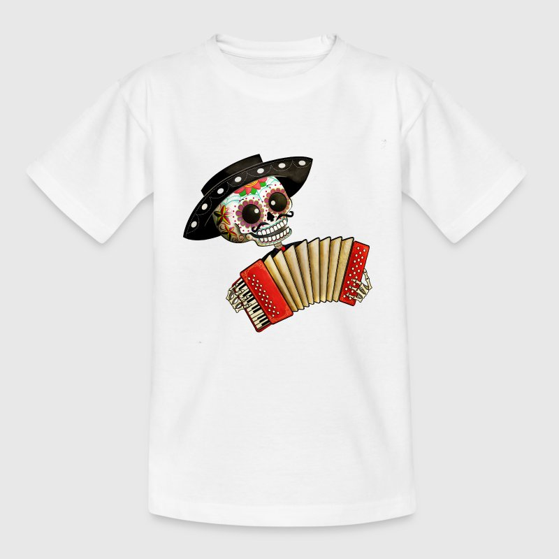 The Day of The Dead Skeleton El Mariachi Shirts - Kids' T-Shirt