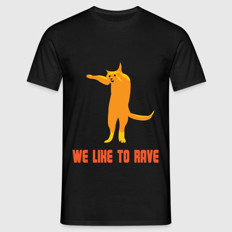 Techno cat is raving T-Shirts - Men's T-Shirt
