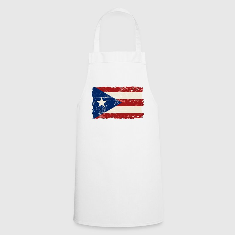 Puerto Rico Flag - Vintage Look  Aprons - Cooking Apron