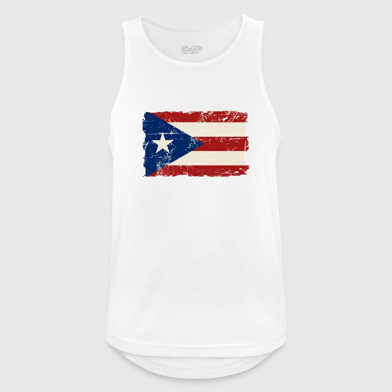 Puerto Rico Flag - Vintage Look Sports wear - Men's Breathable Tank Top