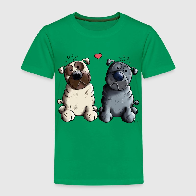 Pugs in Love Shirts - Kids' Premium T-Shirt