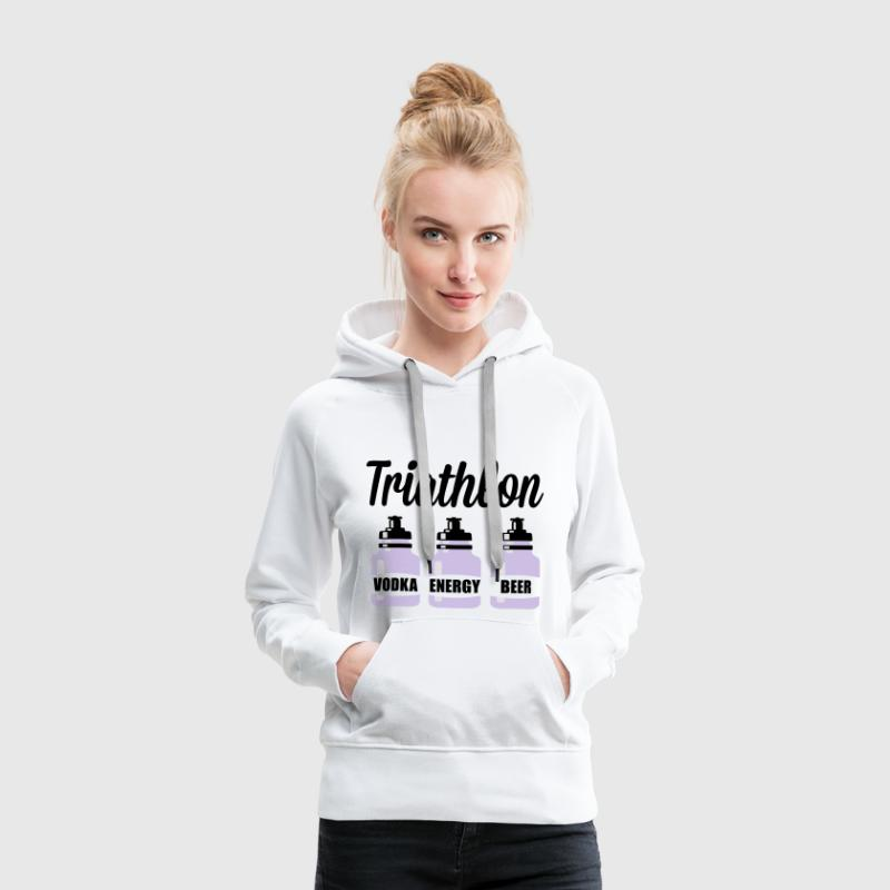 Triathlon Vodka Energy Beer Sweat-shirts - Sweat-shirt à capuche Premium pour femmes