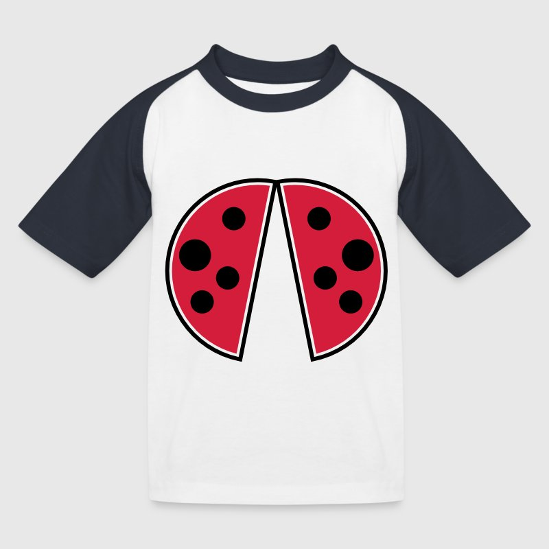 cute red black spots ladybug wings ladybug Shirts - Kids' Baseball T-Shirt