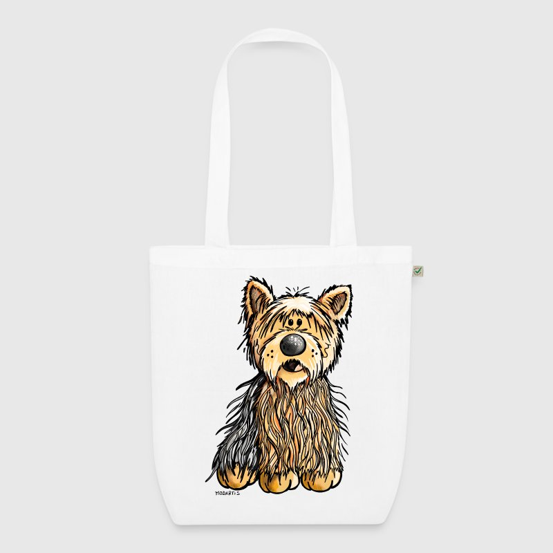 Yago the Yorkshire Terrier Bags & Backpacks - EarthPositive Tote Bag