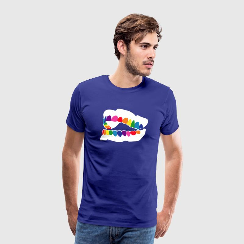 Rainbow teeth T-Shirts - Men's Premium T-Shirt