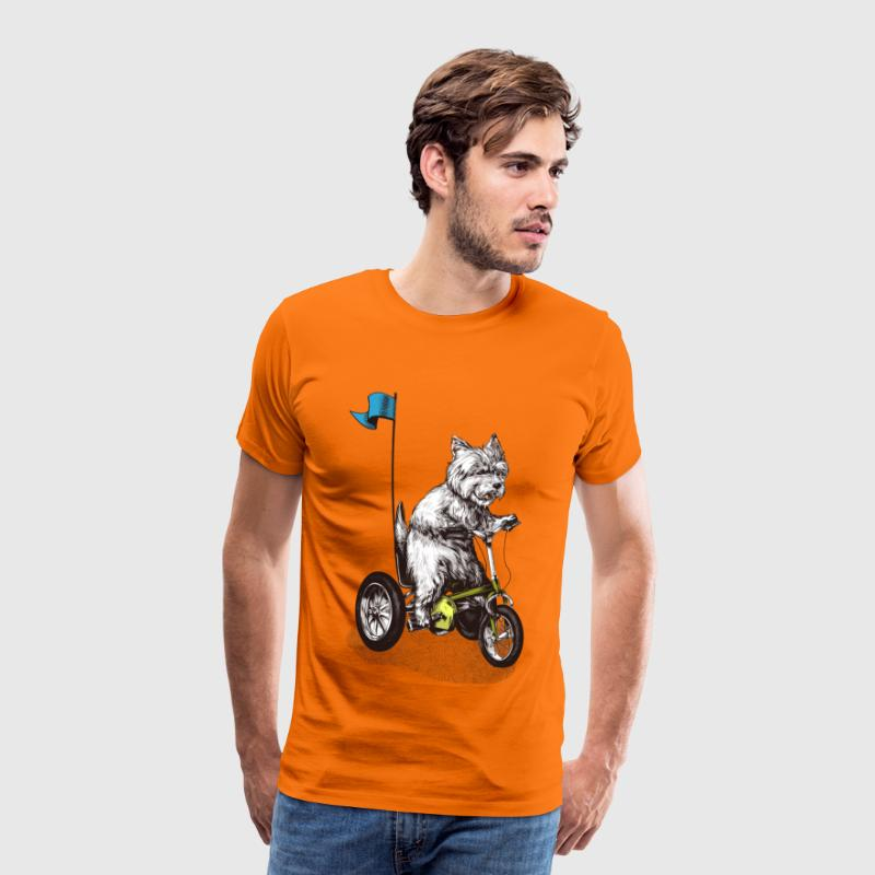 West Highland Terrier Tricycle T-Shirts - Men's Premium T-Shirt
