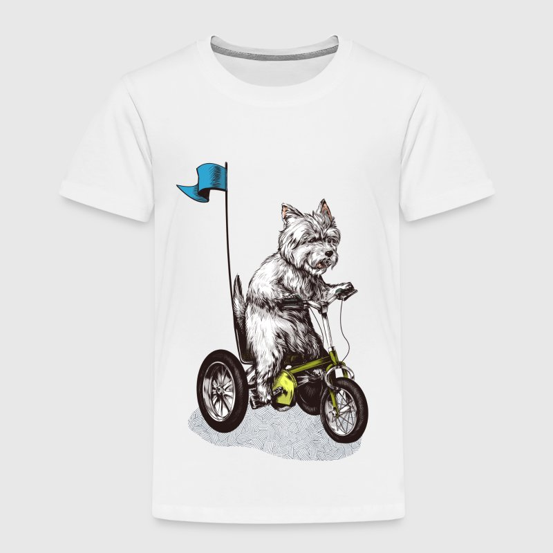 West Highland Terrier Tricycle Shirts - Kids' Premium T-Shirt