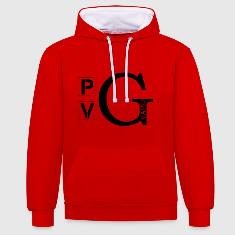 PG/VG - Vape ! - Sweat-shirt contraste