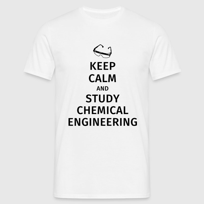 keep calm and study chemical engineering Camisetas - Camiseta hombre