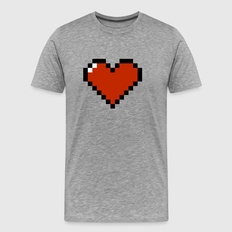8 Bit Heart T-Shirts - Men's Premium T-Shirt
