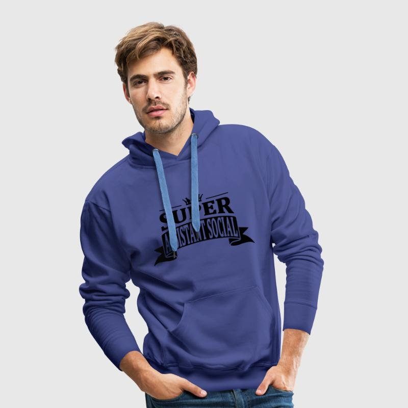 Super Assistant Social Sweat-shirts - Sweat-shirt à capuche Premium pour hommes