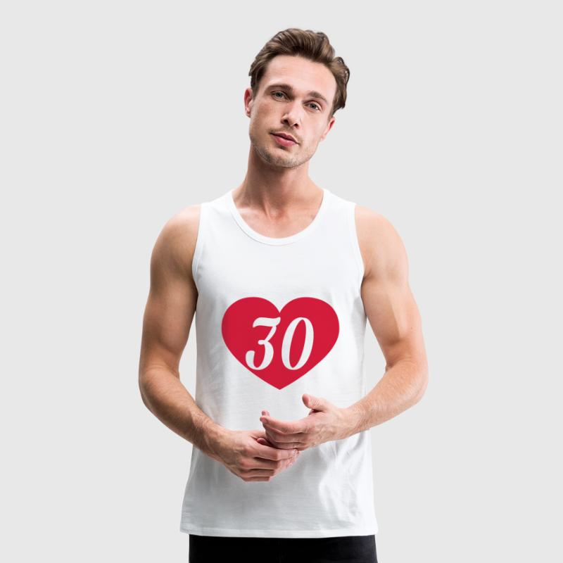 30th birthday heart Tank Tops - Men's Premium Tank Top