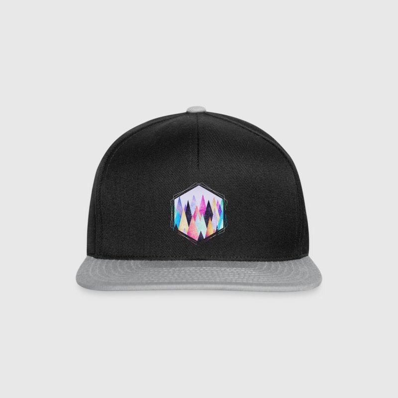 Hipster triangles (geometry) Abstract Mountains  Caps & Hats - Snapback Cap