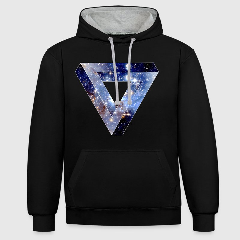 Penrose Triangle Hoodies & Sweatshirts - Contrast Colour Hoodie