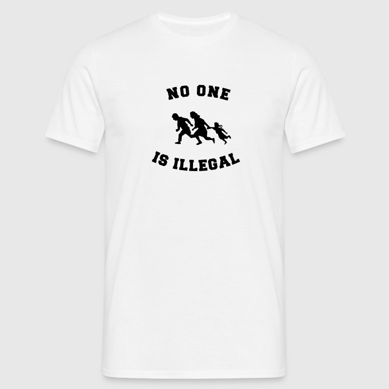 no one is illegal T-paidat - Miesten t-paita