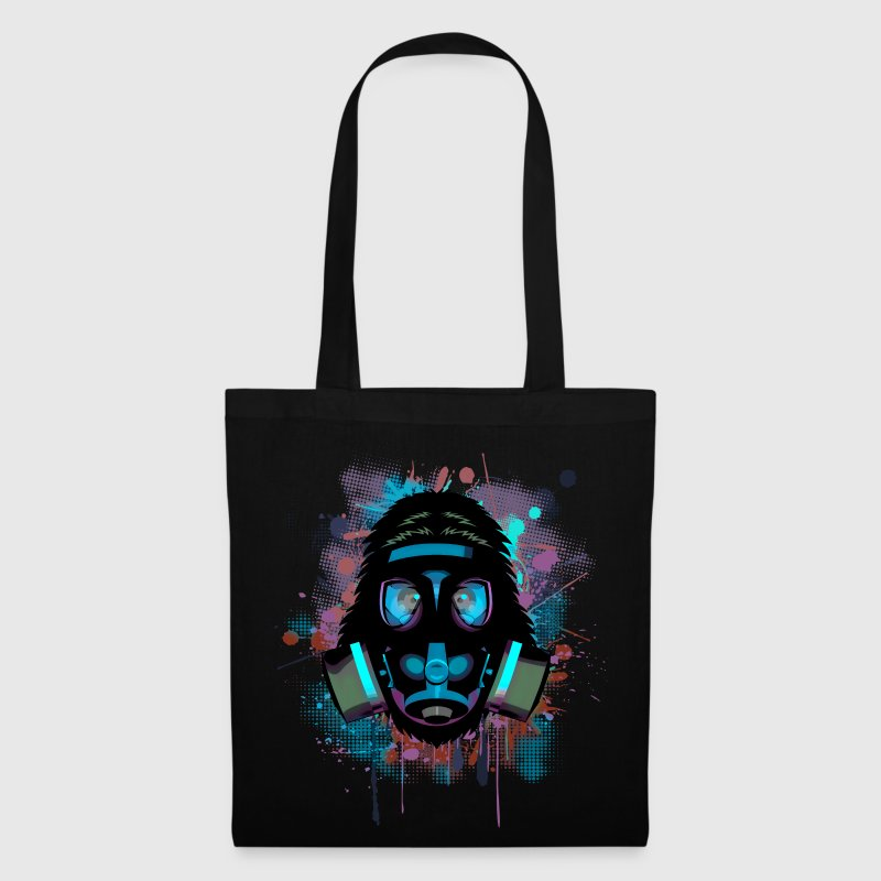 Urban Monkey with Gas mask Fallout Bags & Backpacks - Tote Bag