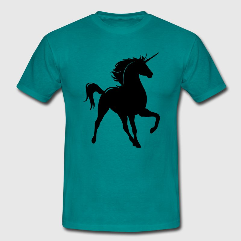 Unicorn silhouette art T-Shirts - Men's T-Shirt