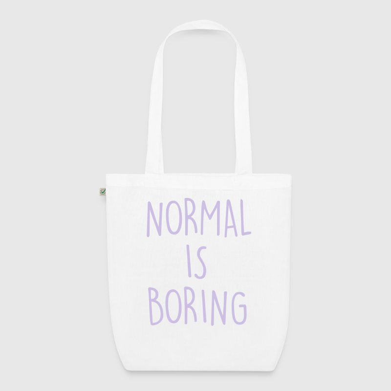 NORMAL IS BORING Bags & Backpacks - EarthPositive Tote Bag
