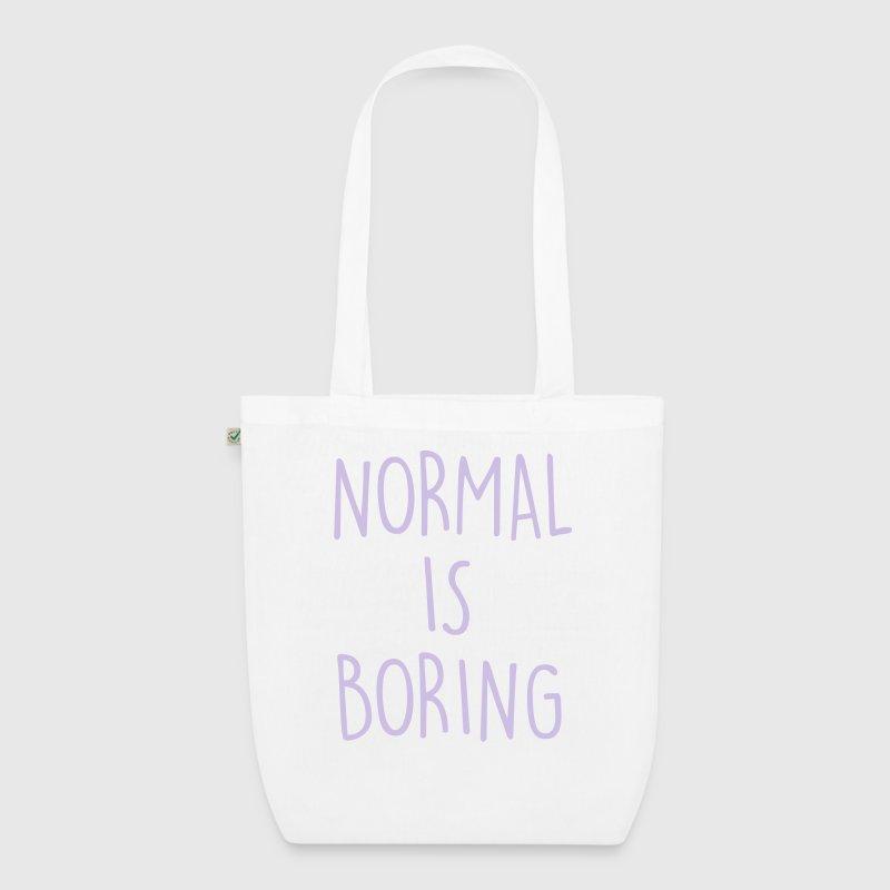 normal ist langweilig stoffbeutel spreadshirt. Black Bedroom Furniture Sets. Home Design Ideas