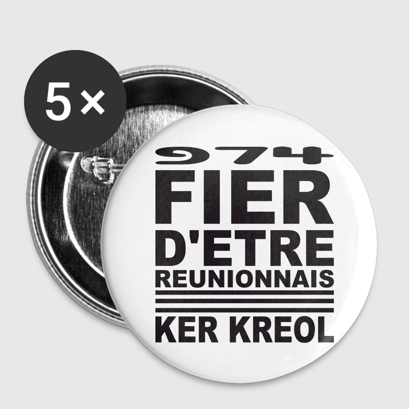 Fier d'etre reunionnais Badges - Badge moyen 32 mm