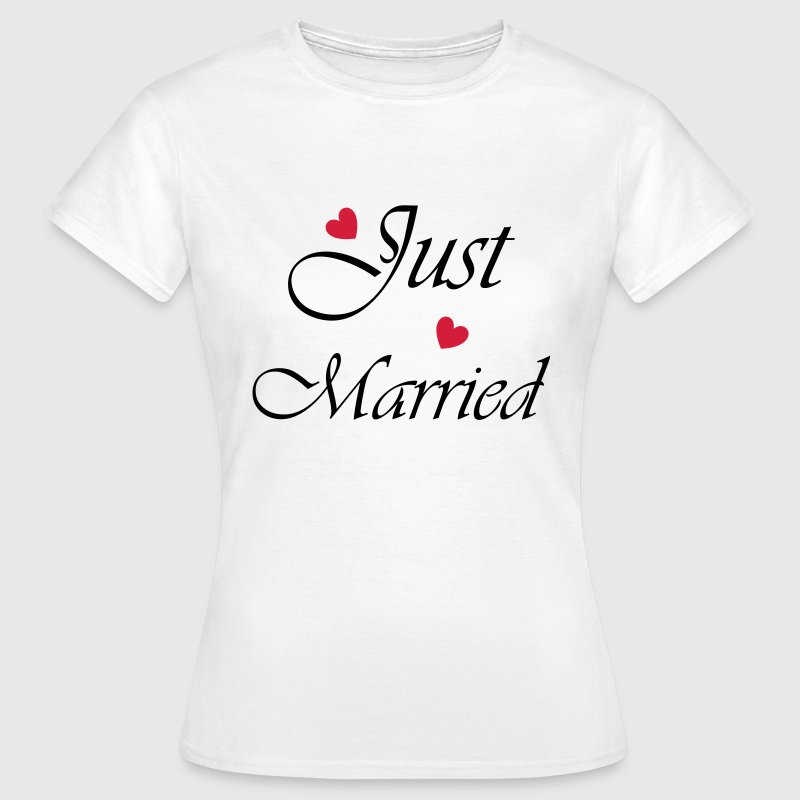 Just Married mit Herz T-Shirts - Frauen T-Shirt
