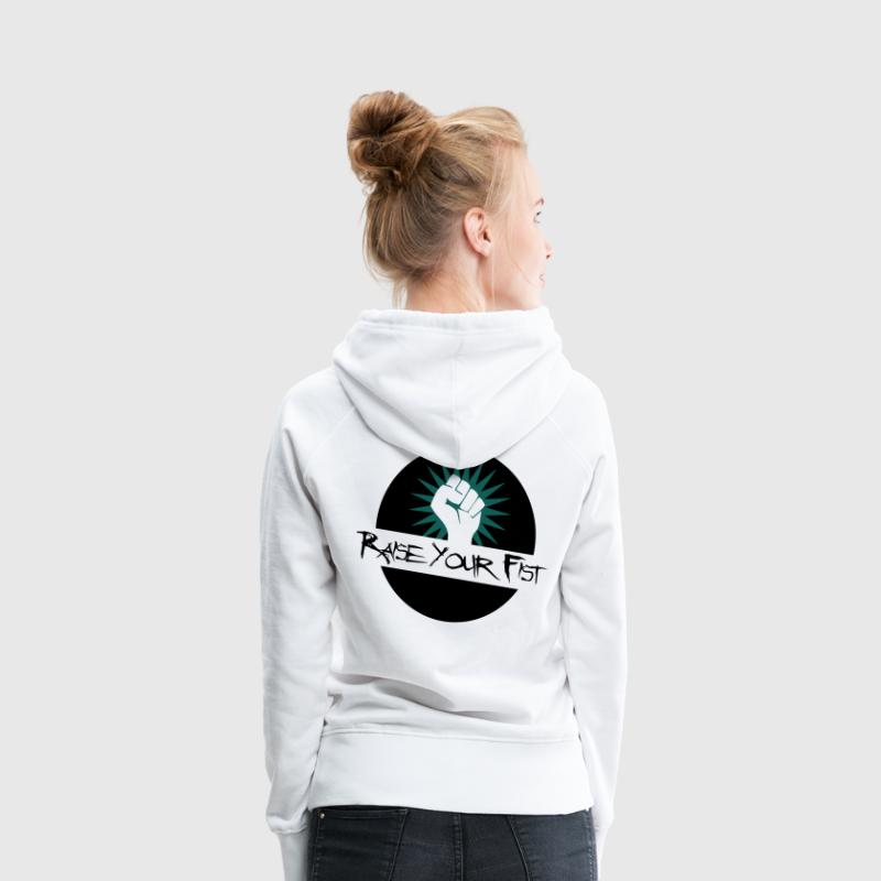 Raise Your Fist For Angerfist Hoodies & Sweatshirts - Women's Premium Hoodie