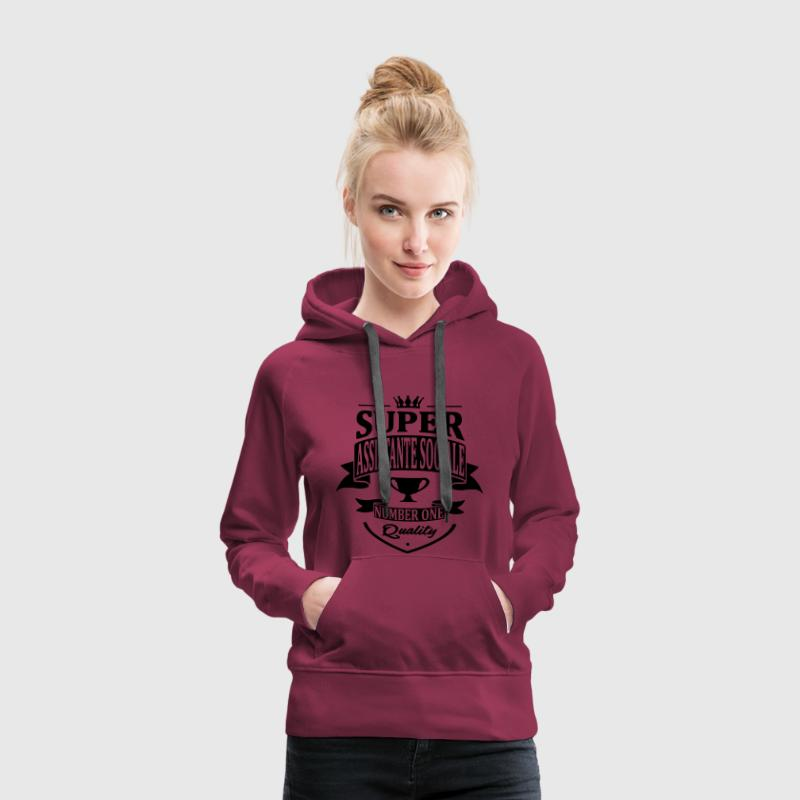 Super Assistante Sociale Sweat-shirts - Sweat-shirt à capuche Premium pour femmes