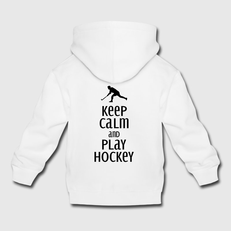 keep calm and play hockey Sweats - Pull à capuche Premium Enfant