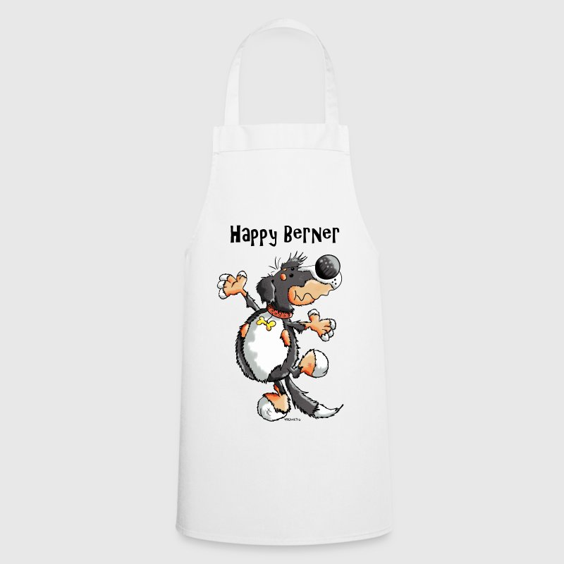 Happy Bernese Mountain Dog  Aprons - Cooking Apron