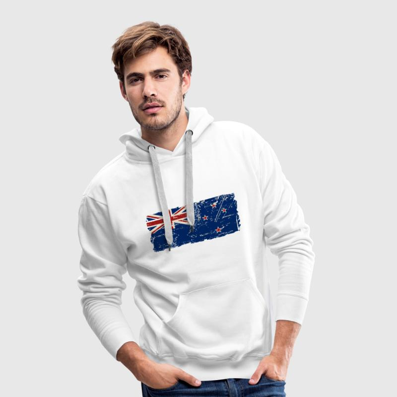 New Zealand Flag - Vintage Look Pullover & Hoodies - Männer Premium Hoodie