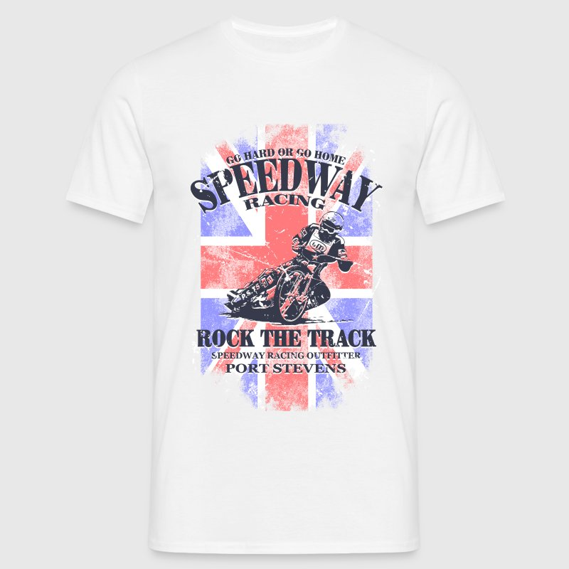 Speedway Racing - Union Jack Vintage Flag T-shirts - Mannen T-shirt