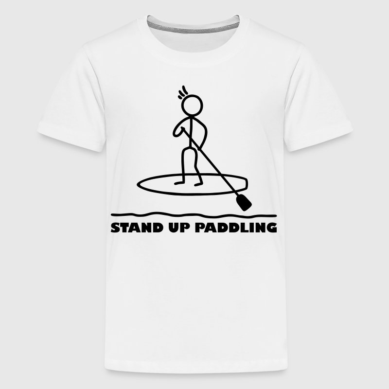 Strichmännchen  Paddling T-Shirts - Teenager Premium T-Shirt