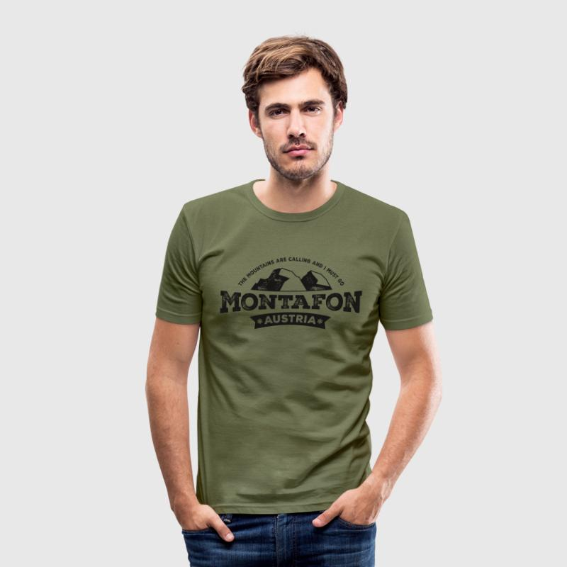 Montafon Mountains T-Shirt - Männer Slim Fit T-Shirt