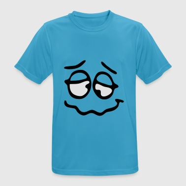 Funny Face, Cartoon Face, Trickfilm, Smiley Vêtements de sport - T-shirt respirant Homme