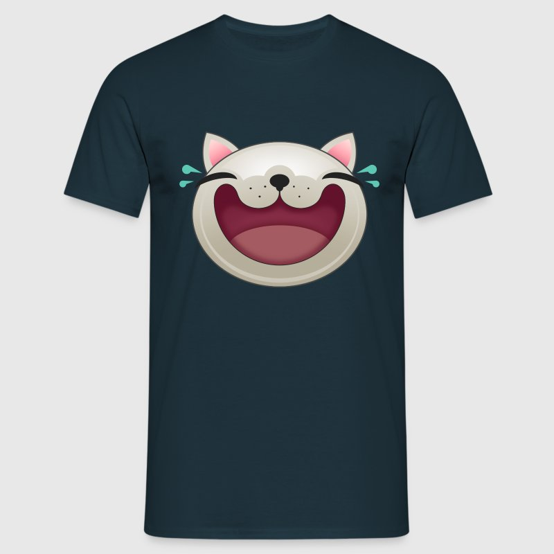 EXPRESSION - HAPPY CAT - Men's T-Shirt