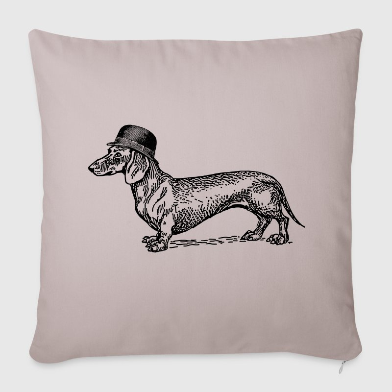 dog with hat sofa pillow cover spreadshirt