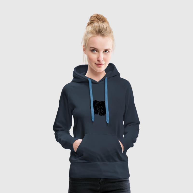 elephant dessin Sweat-shirts - Sweat-shirt à capuche Premium pour femmes