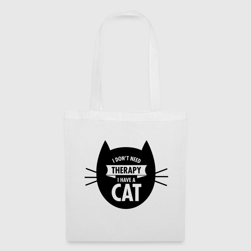 I Don't Need Therapy - I Have A Cat Taschen & Rucksäcke - Stoffbeutel