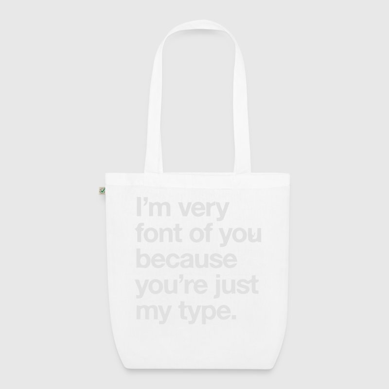 YOU'RE JOKE JUST MY TYPO - GRAPHIC DESIGN Bags & Backpacks - EarthPositive Tote Bag