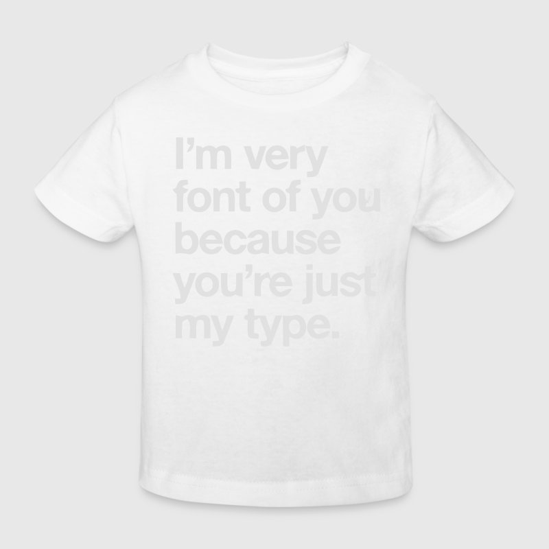 YOU'RE JOKE JUST MY TYPO - GRAPHIC DESIGN Shirts - Kids' Organic T-shirt