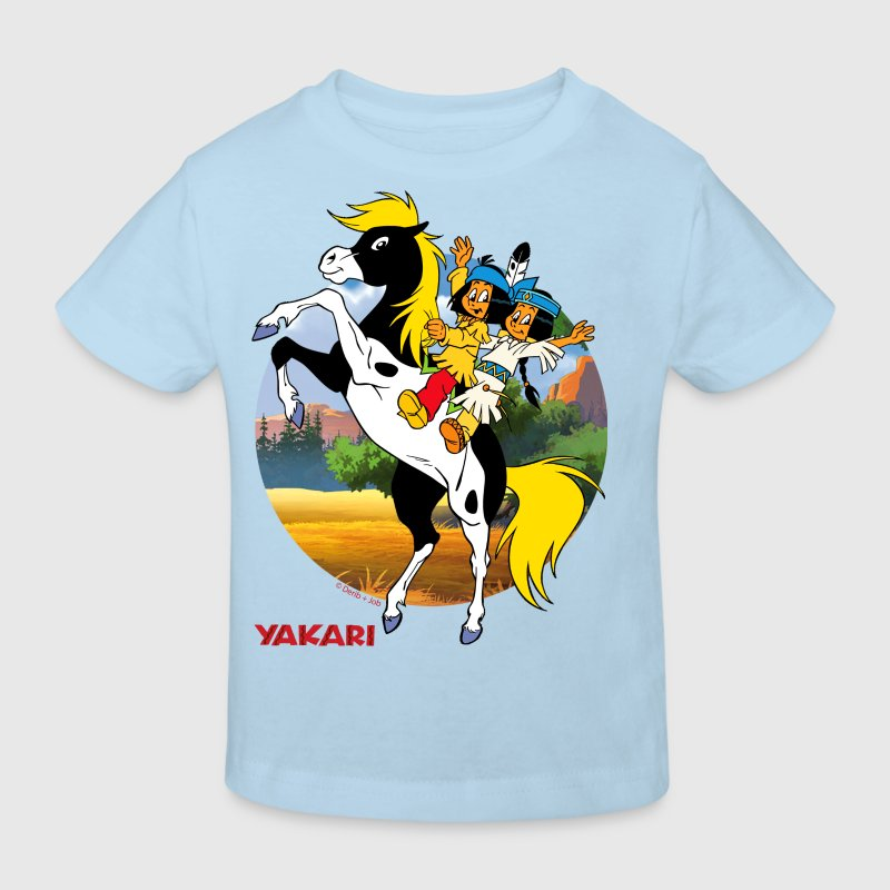 yakari und regenbogen auf kleiner donner kinder bi t shirt spreadshirt. Black Bedroom Furniture Sets. Home Design Ideas